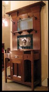 The Circa 1905 Hallstand Has Beveled Door Rails, A Signature Lebus Design Detail