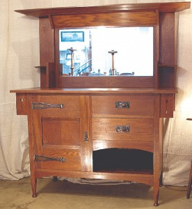The Sideboard From The First Decade Of The 20th Century Exemplifies How Lebus Mixed And Matched Design Elements Such As Bevels, Wide Overhangs And Ring-Turned Feet
