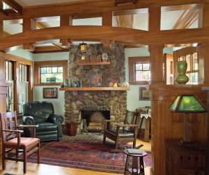 The fireplace as it is today.