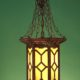 HUGE Arts and Crafts Herwig Hallway Lantern  RESTORED