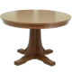 Authentic Stickley Mission Oak Round Dining Room Table